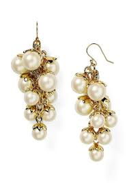 kate spade kate spade new york petaled pearls chandelier earrings jewelry it to me