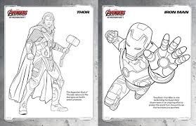 avengers coloring pages thor and iron man
