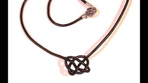 beading ideas celtic knot neclace using leather cord
