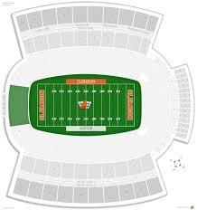 Clemson Football Stadium Seating Chart Rows