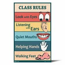 Details About Classroom Rules Sign Chart Kindergarten