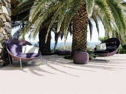 elegant papasan chair in patio beach