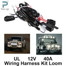 driving light harness reviews online shopping driving light universal car fog light wiring harness kit loom for led work driving light bar fuse and relay switch 12v 40a shipping