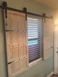 sliding barn door window treatment sliding barn door window shutters diy barn door window coverings sliding barn doors for windows rustic shutters