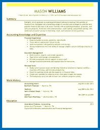 Resume Skills For Accounting - Embersky.me