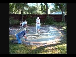 concrete patio with fire pit. How To Build A Circular Concrete Patio With Fire Pit And Retaining Wall