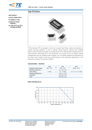 Smd Resistor Wattage Size Chart Smd Low Ohmic Current Sense Resistors Type Tlr Series