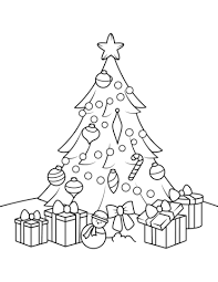 christmas tree with presents drawing. Brilliant Christmas Christmas Tree With Presents Coloring Page And With Drawing