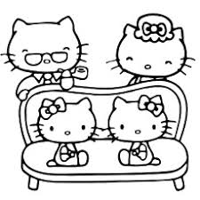 hello kitty color sheets. Contemporary Color Beautiful Family Of Hello Kitty Coloring Sheet To Print In Color Sheets E