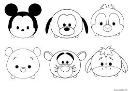 Coloriage Tsum Tsum Disney Facile Enfant Simple Dessin Coloriage De Facile L