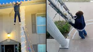 Clark Griswold Hanging Lights Good Samaritan Calls 911 To Rescue Man Dangling From Roof In Holiday Display