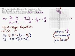 given two points find the standard form equation of a line