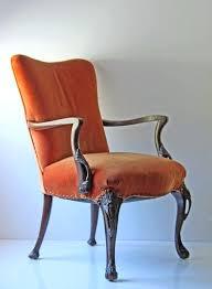 antique orange velvet arm chair by on armchair uk orange velvet chairs