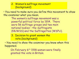 how important were the activities of the women s suffrage movement  women s suffrage movement background