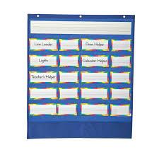 Teacher Pocket Chart Job Pocket Chart Beckers School Supplies