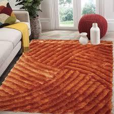 cozy rug modern soft fluffy 3d area rug 8x10 orange rug