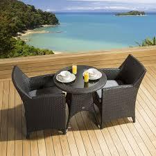 rattan garden dining set round table 2