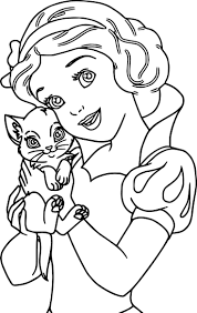 Snow White My Cat Coloring Page
