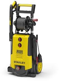 stanley shp2000 2 000 psi electric pressure washer with 30 foot working hose reel detergent tank spray 4 nozzleore