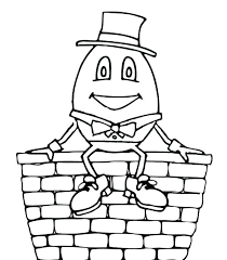 Humpty Dumpty Coloring Page Nursery Rhyme Coloring Pages Humpty