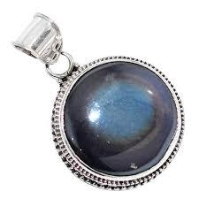pendants image pendantsimage natural rainbow obsidian eye 925 sterling silver pendant jewelry m27517
