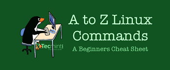 linux cheat sheet a z linux commands overview with examples