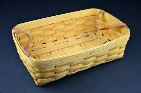 woven wood basket. Modren Wood American Longaberger HandWoven Wooden Baskets Double Handle Set Pair Of  1998 1999  For Woven Wood Basket E