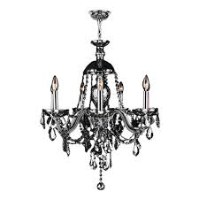 worldwide lighting provence collection 7 light chrome finish and smoke crystal chandelier