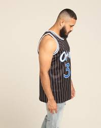 Mitchell Ness Orlando Magic Shaquille Oneal 32 Alt 94 95 Swingman Nba Jersey Black White