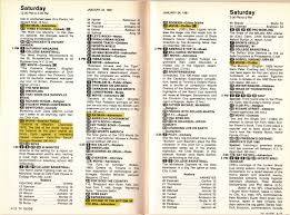 tv listings. growing up g was all about frantically yet carefully through the weekly paperback tv guide. first stop, saturday afternoon listing. tv listings