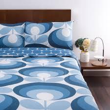living room orla kiely multi: orla kiely s flower oval duvet cover marine super king