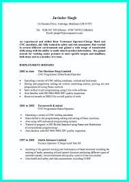 Writing Your Qualifications In Cnc Machinist Resume Must Sample