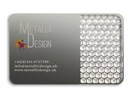 Stainless Steel Business Cards Metal Cards Business Cards London Metallic Design Uk