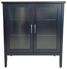 bowery 2 door display storage cabinet