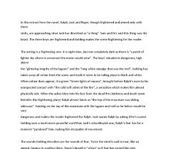 golding lord of the flies extract confronting the beast  document image preview