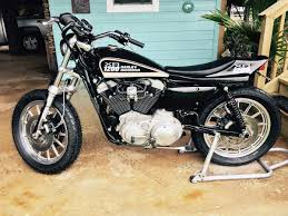 harley sportster street tracker conversion by an old flat tracker