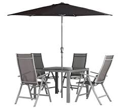Buy Havana 4 Seater Rattan Effect Patio Set  Grey At Argoscouk Argos Outdoor Furniture Sets
