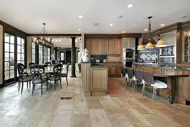 wood and tile floor ornate textures abound in this kitchen featuring stone flooring naturally dark n16 flooring