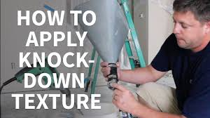 Knockdown Textured Ceiling Diy How To Apply Knockdown Texture To Ceilings Youtube