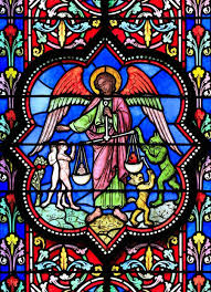 stained glass window in bayeux cathedral wall decal