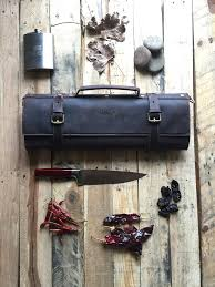 DEXTER - LEATHER CHEF KNIFE ROLL