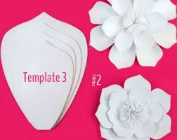 Large Paper Flower Pattern Template Giant Paper Flower Pdf Flowers Healthy