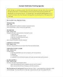 Sales Training Template Meeting Agenda Template Excel Word Training Manual Templates