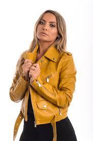 zara mustard pvc biker jacket