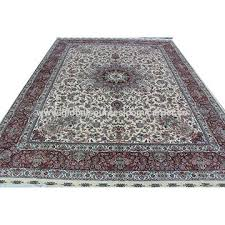 china handmade isfahan silk carpet hand knotted persian rugs factory whole silk persian rugs