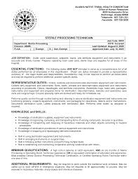 Sample Resume For Sterile Processing Technician. Resume Gulz ...