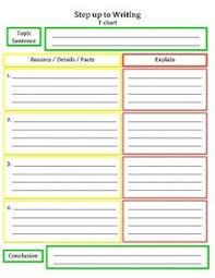Step Up To Writing T Chart Amy Grady Agrady0386 On Pinterest