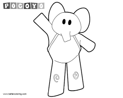 Pocoyo Coloring Pages Elephant Free Printable Coloring Pages