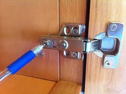 how to adjust cabinet hinges. the last adjustment that need to be made is ensure doors are seated on a flat plane and not sitting proud either hinge or handle side. how adjust cabinet hinges m