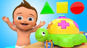 Children Education Cartoons Learn Colors And Shapes With Baby Tortoise Toy Cartoon Animals 3d